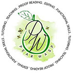 Pear Wasp English Tutoring Logo